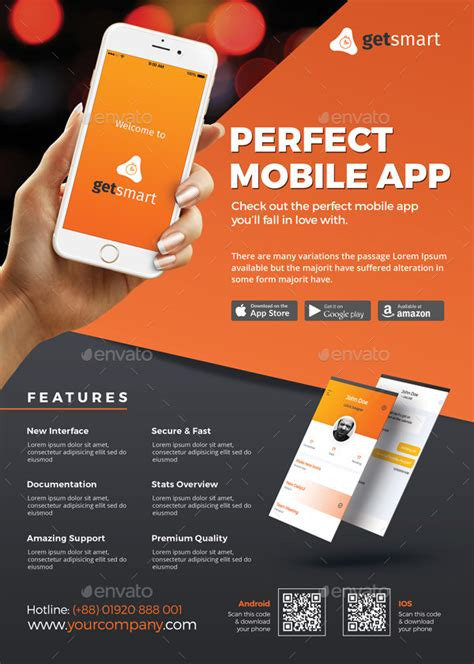 mobile app flyer  themedevisers graphicriver