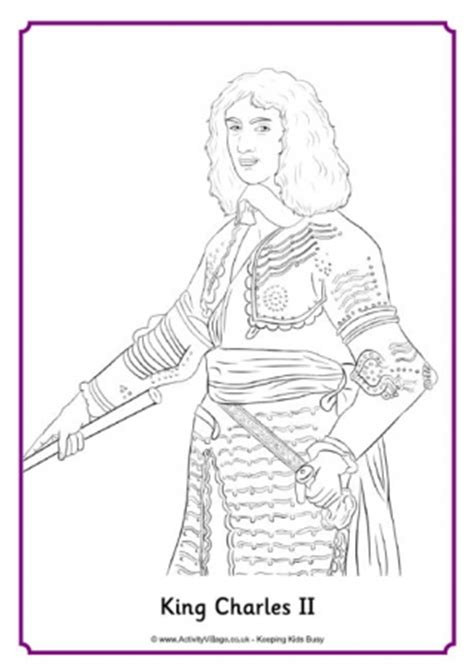 king james coloring pages king james ii portrait colouring page