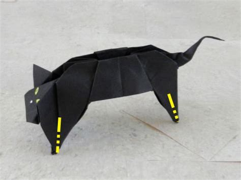 origami black cat joost langeveld origami page