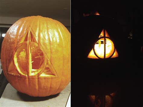 harry potter pumpkin carving templates a deathly hallows pumpkin katherine a raised