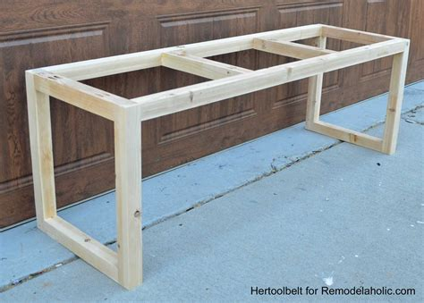 a frame bench remodelaholic diy wood chevron bench with box frame