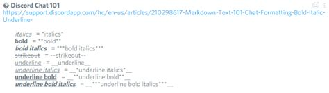 discord chat formatting markdown text 101 chat formatting bold italic