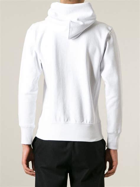 Jacket Hoodies Gojek 06 chion logo hoodie in white for lyst
