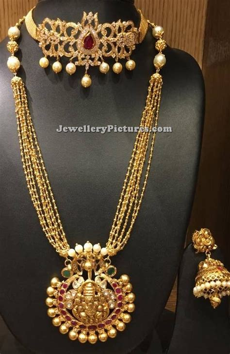 gold long chain designs   grams jewellery designs