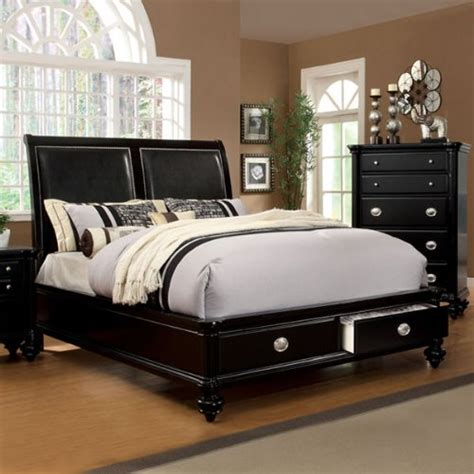queen size platform bedroom sets laguna hills english style black finish queen size
