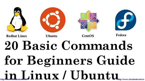linux tutorial for beginners pdf 20 basic commands for beginners guide in redhat linux