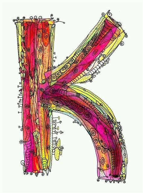 K Letter Doodle 17 best images about letter k on coloring