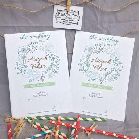 desain undangan pernikahan full color 8 best miki nino wedding invitation images on pinterest