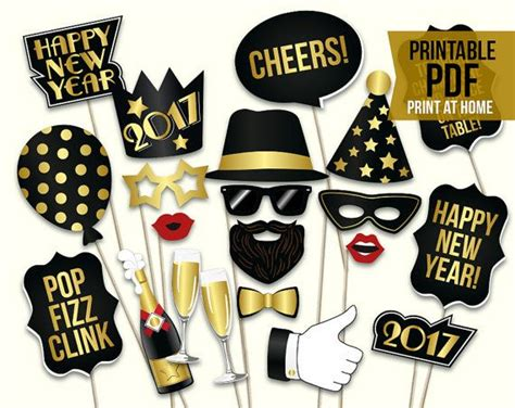 photo booth props printable pdf new year 34 best printable photo booth props diy images on