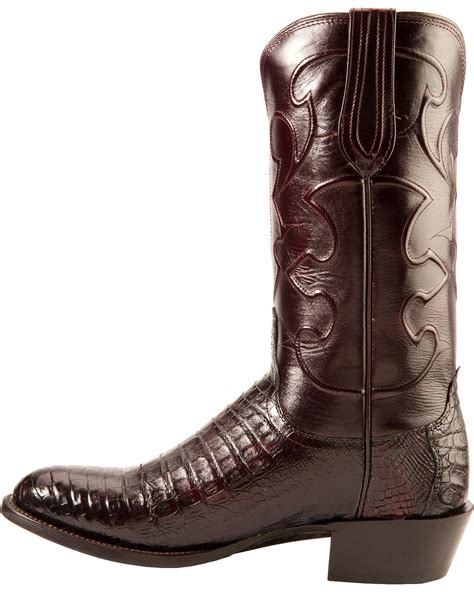 crocodile boots for sale lucchese handcrafted 1883 black cherry crocodile belly