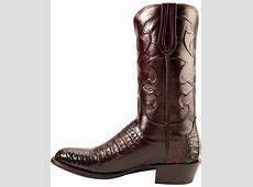 Lucchese Men's Charles Round Toe Crocodile Western Boots ... Justin Boots For Men