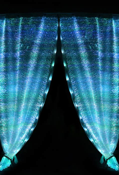 battery led curtain lights fiber optics fabric led light readymade decorative safety