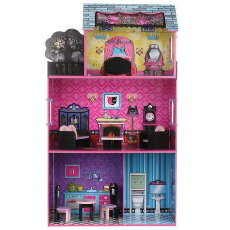 monster high doll house furniture giant tiger canada online deal get the teamson haunted monster dollhouse with