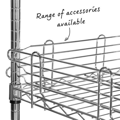 narrow wire shelving narrow chrome wire shelving unit 4 shelves h1800 x w750 x d350 mm