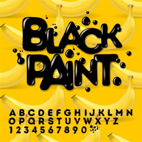 font design free download black paint font design vector free vector graphic download
