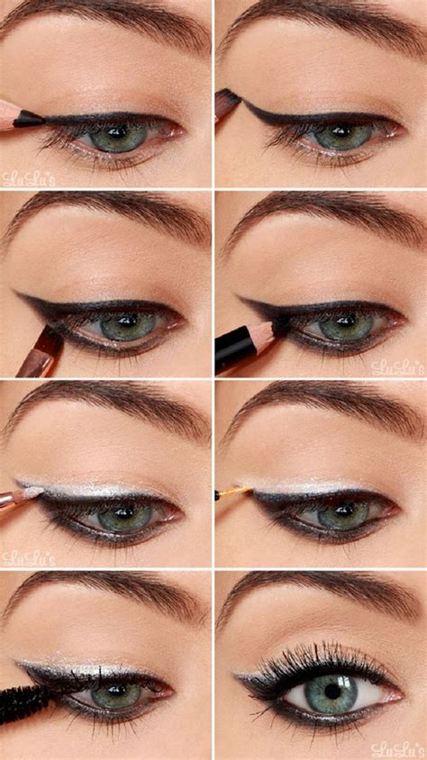 tutorial eyeliner silver silver eye makeup tutorial makeup vidalondon