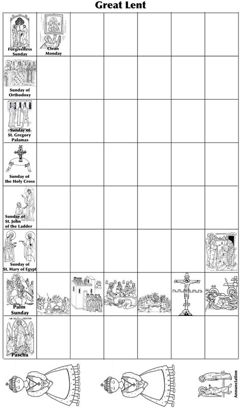 printable lenten calendars pin by mary laura on great lent and pascha pinterest