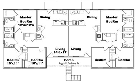 fourplex floor plans fourplex apartment j1031 4 plansource inc