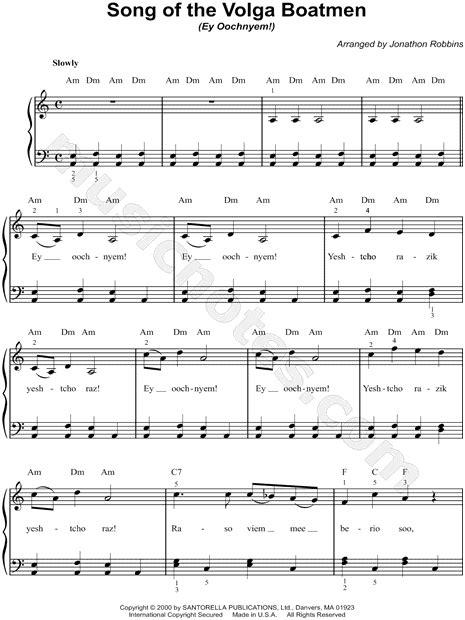 the volga boat song russian folksong quot song of the volga boatman quot sheet music