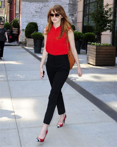 emma stone outfits emma stone style out in new york city july 2014