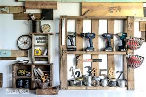 Small Apartment Organization Ideas organize your tools on an enhanced pallet shelffunky junk