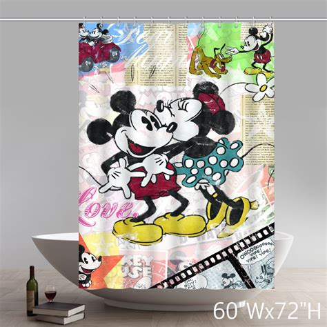 minnie and mickey mouse shower curtain custom disneycartoon mickey minnie mouse shower curtain