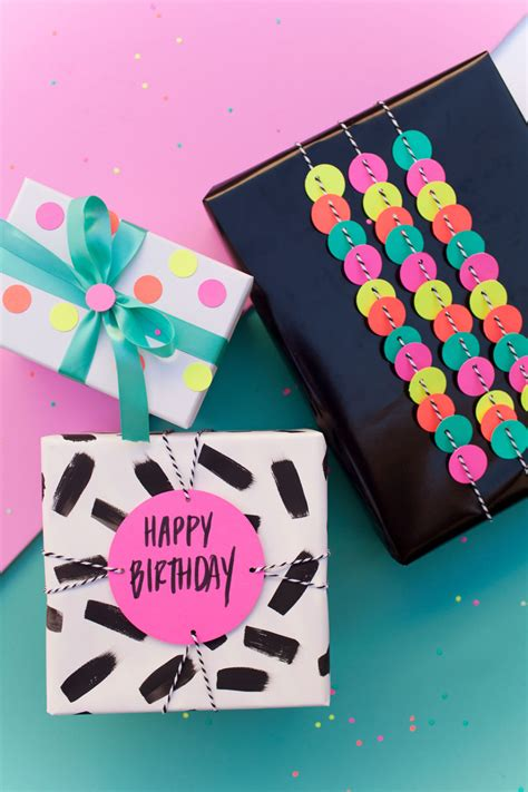 fun gifts ideas fun gift wrap ideas using a hole punch tell love and