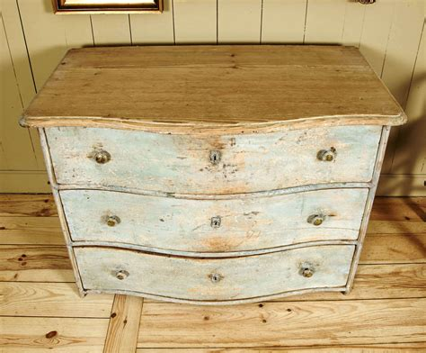Curved Chest Of Drawers by Swedish Curved Chest Of Drawers With Light Blue Patina Ca 1880 At 1stdibs