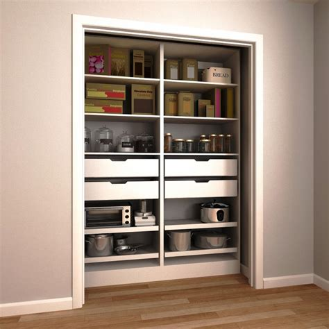 Walk In Kitchen Pantry Design Ideas Modifi 60 In W X 15 In D X 84 In H Melamine Pantry