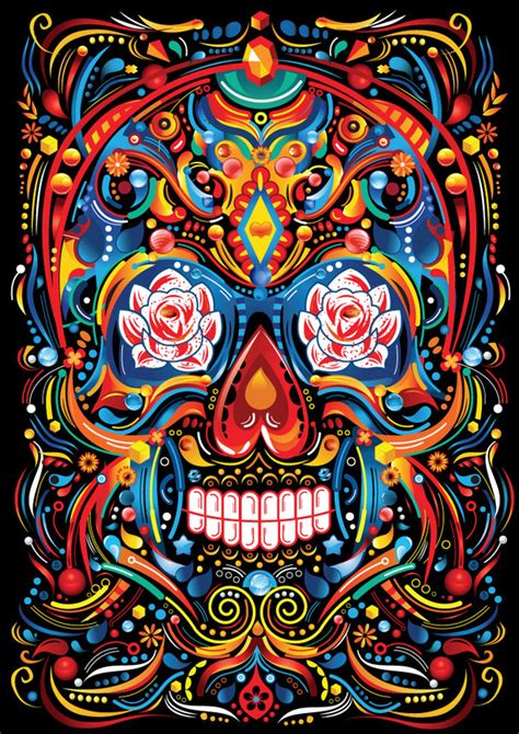 mexican pattern tumblr apogee design caveira mexicana