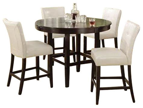 10x10 dining room round table soze modus bossa 5 piece round counter height dining room set