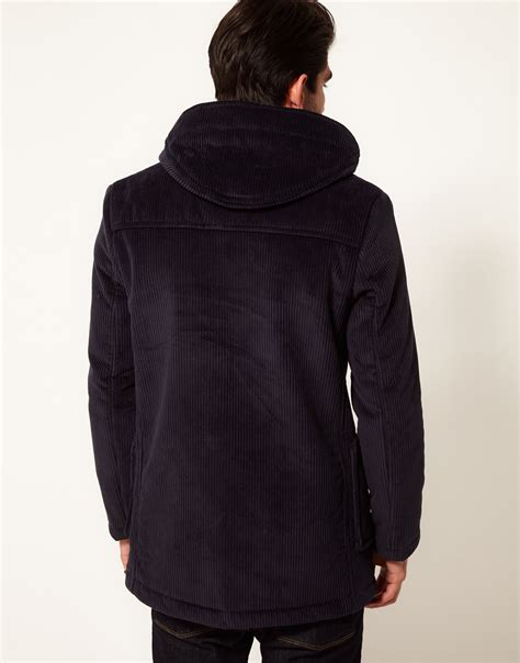 Sweater Macbeth Jumbo Navy lyst gloverall made inn s archive jumbo cord duffle coat in blue for