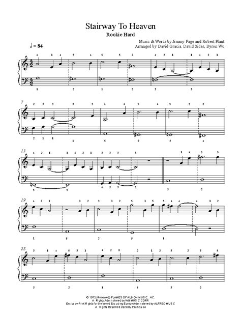 tutorial piano stairway to heaven stairway to heaven by led zeppelin piano sheet music