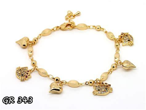 Xuping Yaxiya Gelang Dewasa G190 cincin hello emas pusat perhiasan hello