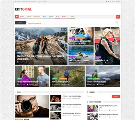 html magazine themes 50 best free responsive wordpress magazine themes in 2017