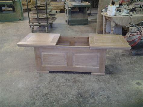 table chene blanchi 504 table coffre table de salon sur meubles voiriot franck