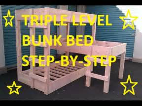 Three Level Bunk Bed Level Bunk Beds Diy