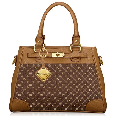 E M O R Y Snapshot Bag Original Brand personalised initials brown handbag danbury mint
