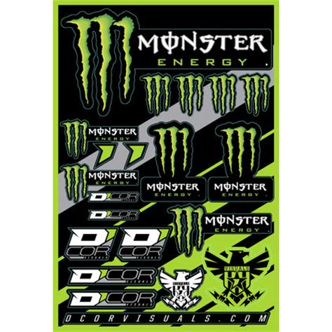 Helm Aufkleber Monster Energy by Logo