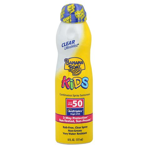 banana boat sunscreen contact upc 079656031300 banana boat kids continuous spray