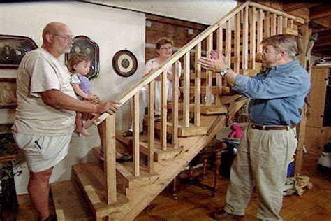 build  stair railing   rustic  ron hazelton