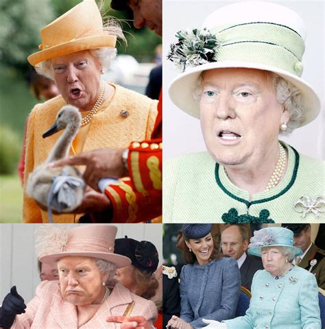 donald trump queen photoshop photoshopping trump s face on the queen of england is art