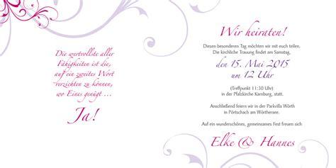 Hochzeitseinladung Text Modern by Hochzeitseinladung Rosige Zeiten Lila