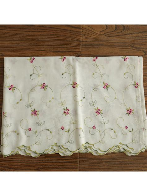 grommet cafe curtains winston little rose embroidered grommet cafe curtains for