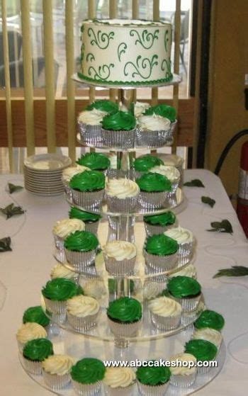 (1177) Green and White Wedding Cupcakes   ABC Cake Shop