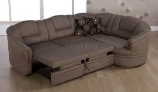 Sectional Sofas Bed Two Tone Brown Fabric Convertible Sectional Sofa Bed W Storage