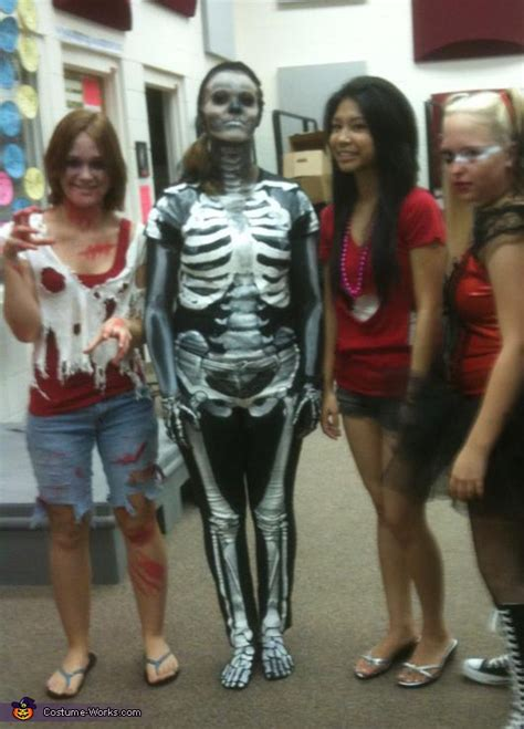 homemade skeleton costume adult
