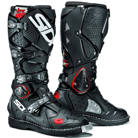 black dirt bike boots sidi crossfire 2 mx enduro road steel toe srs