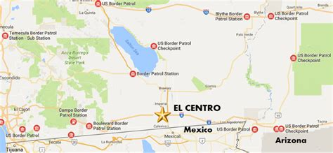 Border Patrol Interior Checkpoints Map by Us Border Checkpoints Map Mexico Border Crossings Map Us