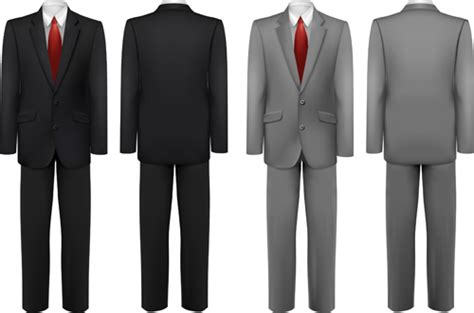 business attire for template suits design template vector 02 vector free